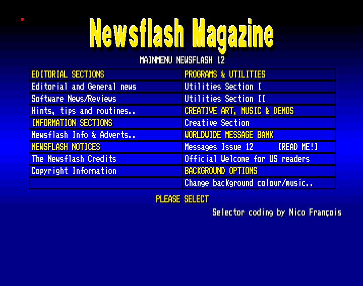 Newsflash 12 (Amiga Diskmagazine)