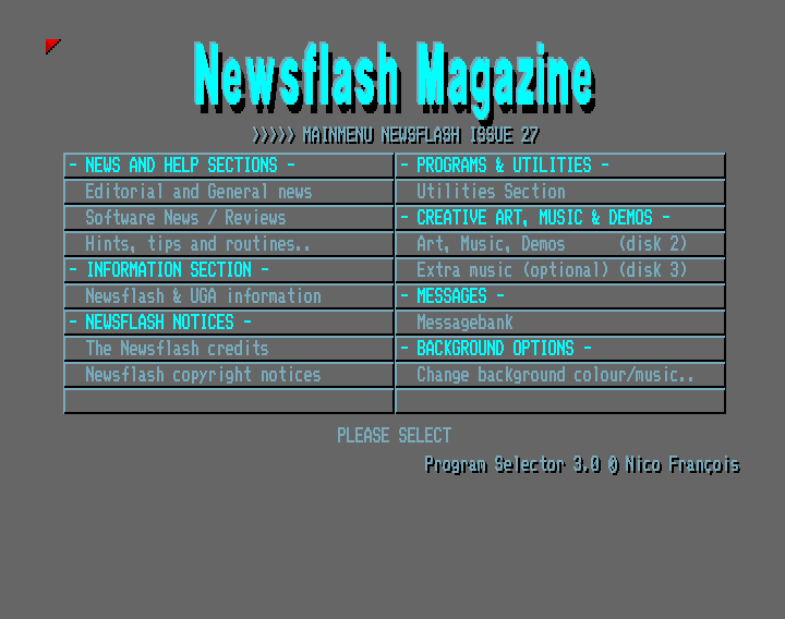 Newsflash 27 (Amiga Diskmagazine)
